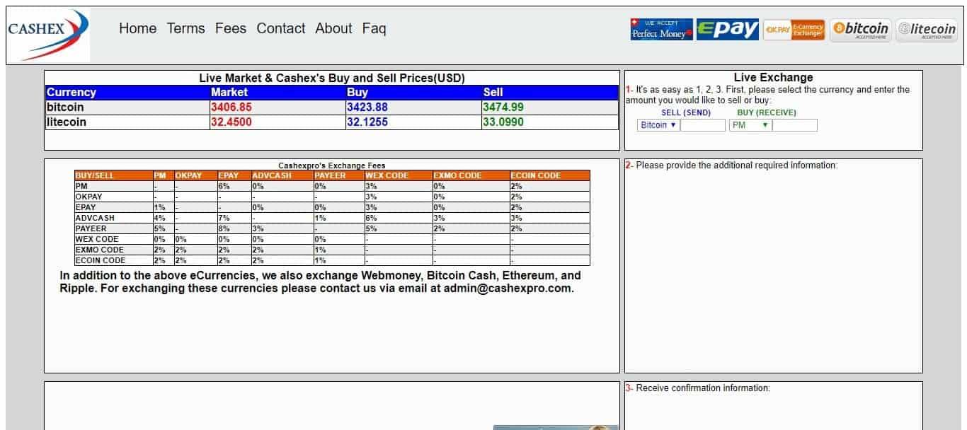 Cashexpro com Currency Exchange Review : eCurrencies, we also excha