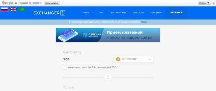 Exchanger1 Exchange Review - Make a Deposit / Withdrawal in Automatic Mode.