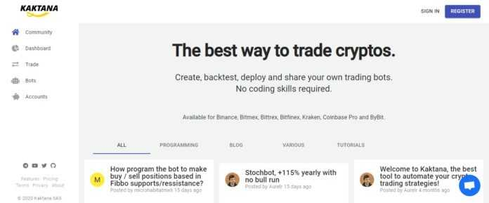 Kaktana Trading Bot Platform Review : The Best Way to Trade Cryptos
