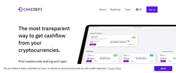 CakeDefi Exchange Review - Get Cashflow From your Cryptocurrencies