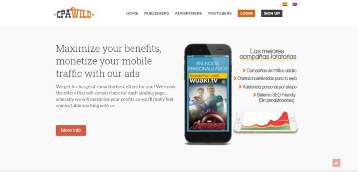 Cpawild.com Affiliate Network Review: Maximize Your Benefits, Monetize Your Mobile Traffic with Ads