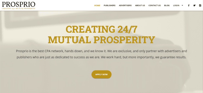 Prosprio.com Affiliates Network Review: Creating 24/7 Mutual Prosperity