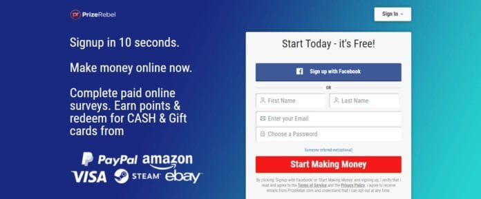 Prizerebel.com Affiliate Program Review: Each Completed Task earns Points