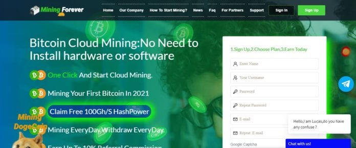 Mining-Forever Bitcoin Mining Review: Earn Up To 10% Referral Commission.