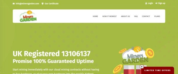 Miners Garden Bitcoin Mining Review: Promise 100% Guaranteed Uptime