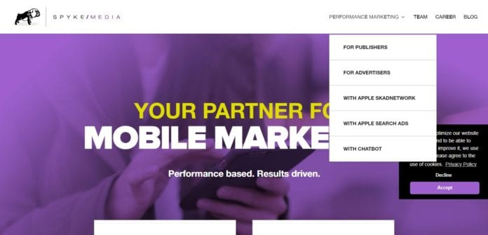 Spykemedia.com Affiliate Network Review : Access to a wide Range of Mobile Offers