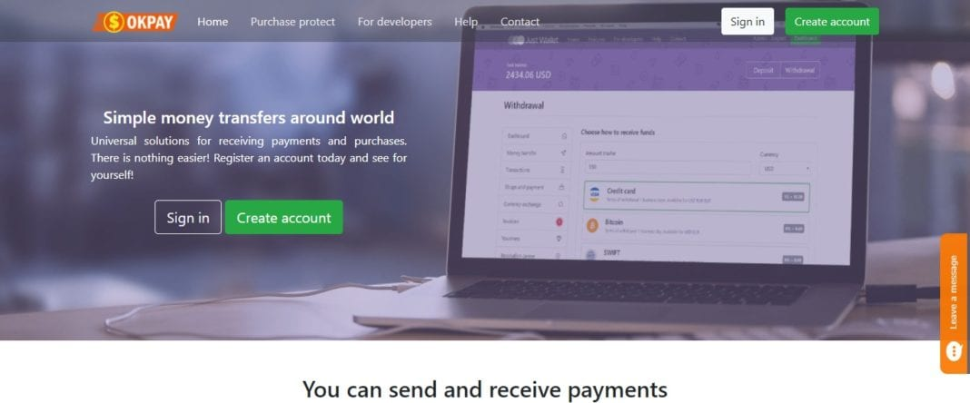 Okpay Online Payment Service Review : Latest Updated